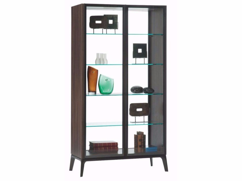 Display cabinet with integrated lighting GLOBUS by ROCHE BOBOIS