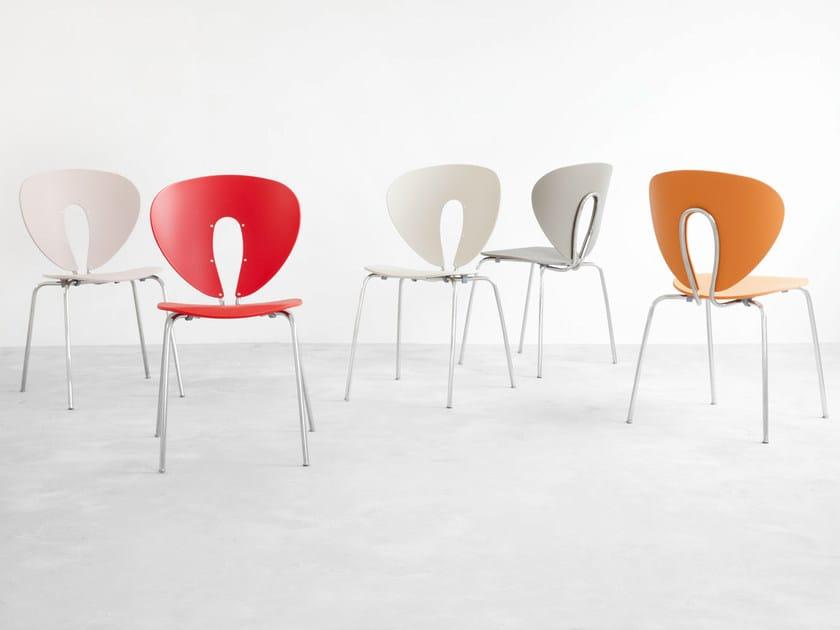 Globus stuhl aus polypropylen kollektion globus by stua design