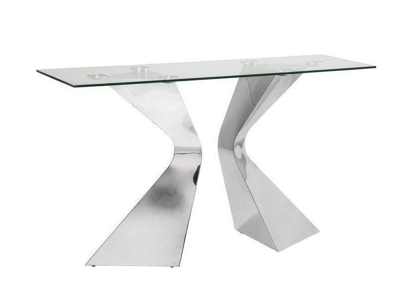 Rectangular Glass And Steel Console Table GLORIA CHROME | Console Table By  KARE DESIGN