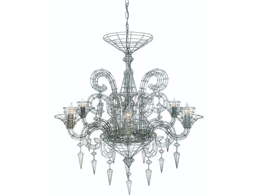 Metal chandelier GLORIA by Forestier