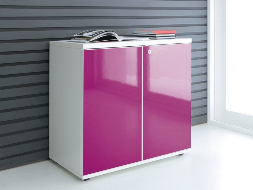 Office storage unit with hinged doors GLOSS | Office storage unit by MDD & GLOSS | Office storage unit By MDD
