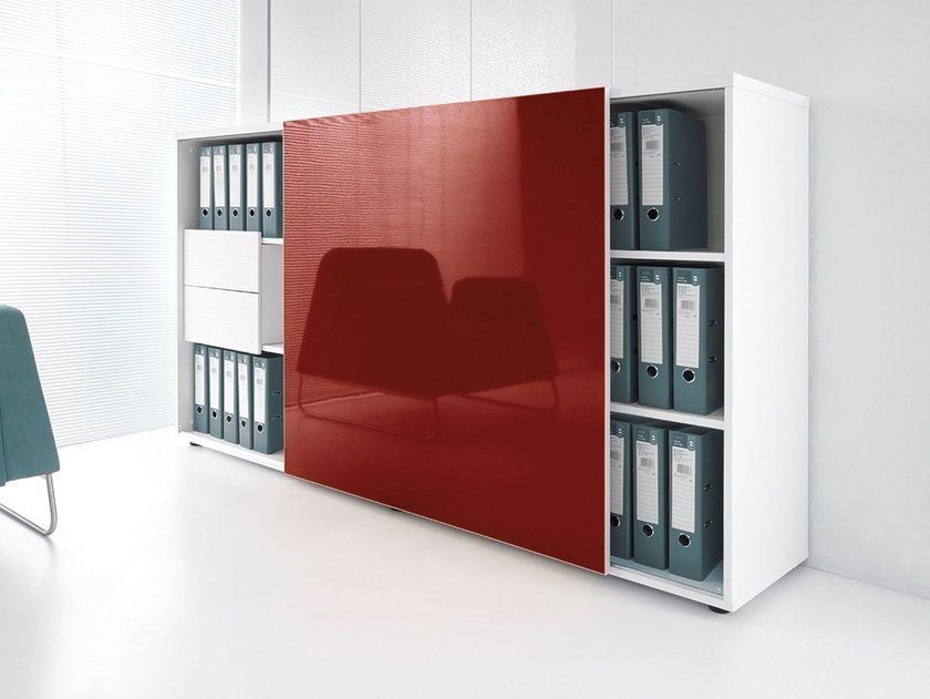 office storage unit. Office Storage Unit With Sliding Doors GLOSS | By MDD C