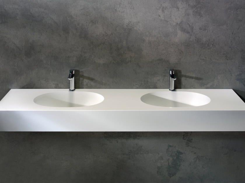 Undermount oval Solid Surface washbasin GLOW | Oval washbasin by Blu Bleu