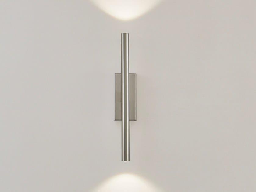 LED direct-indirect light metal wall lamp GLOW W2 by ILFARI
