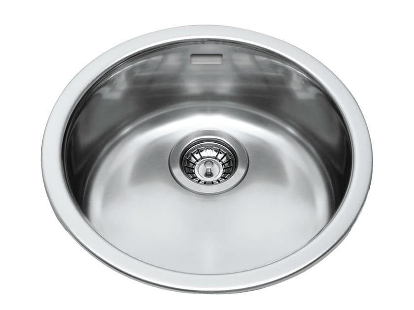 Single built-in stainless steel sink GLR43X   Sink by Glem Gas