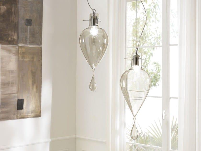 Lampada a sospensione a luce diretta in vetro soffiato GOCCIA GIGANTE | Lampada a sospensione by Cangini & Tucci