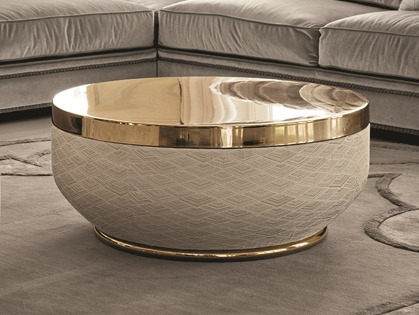 Low round coffee table GODWIN | Low coffee table by Longhi