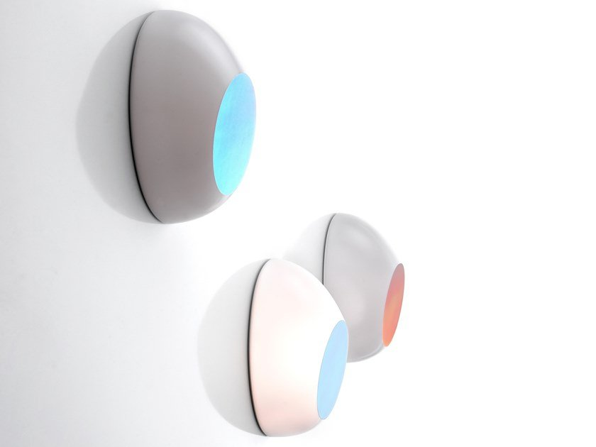 LED polycarbonate wall lamp GOGGLE by LUCEPLAN