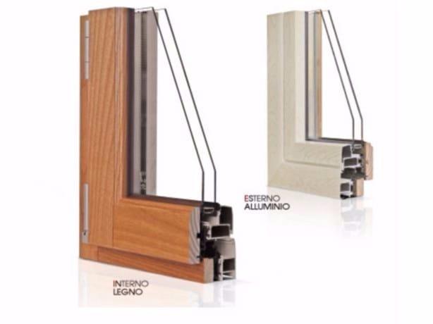 Aluminium and wood casement window GOLD EVOLUTION CLASSIC 90° TT650 | Window by Cos.Met.