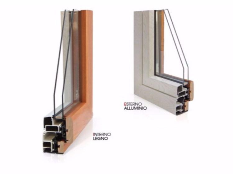 Aluminium and wood thermal break window GOLD EVOLUTION TT650   Thermal break window by Cos.Met.