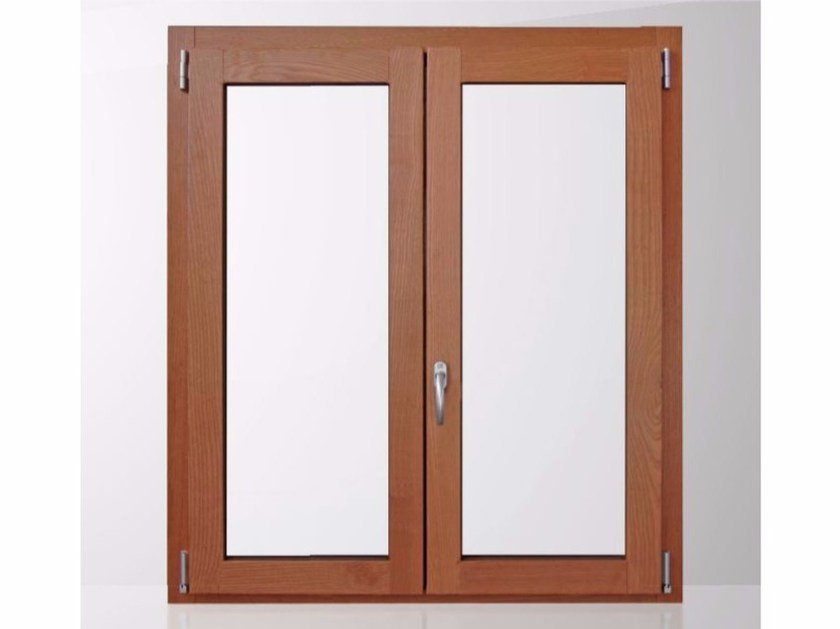 Aluminium and wood thermal break window GOLD EVOLUTION TT650 QUADRA by Cos.Met.