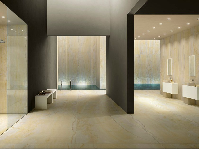 Porcelain Stoneware Wallfloor Tiles With Marble Effect Gold Onyx
