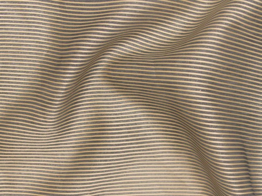 Striped Trevira® CS fabric for curtains GOLD SHADOW by Gancedo