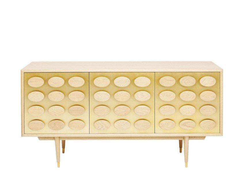 Lacquered sideboard with doors GOLDEN EYE | Sideboard by KARE-DESIGN