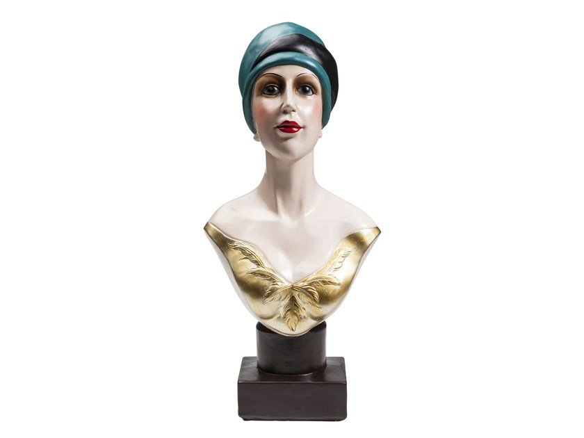 Scultura in resina GOLDEN TWENTIES LADY by KARE-DESIGN