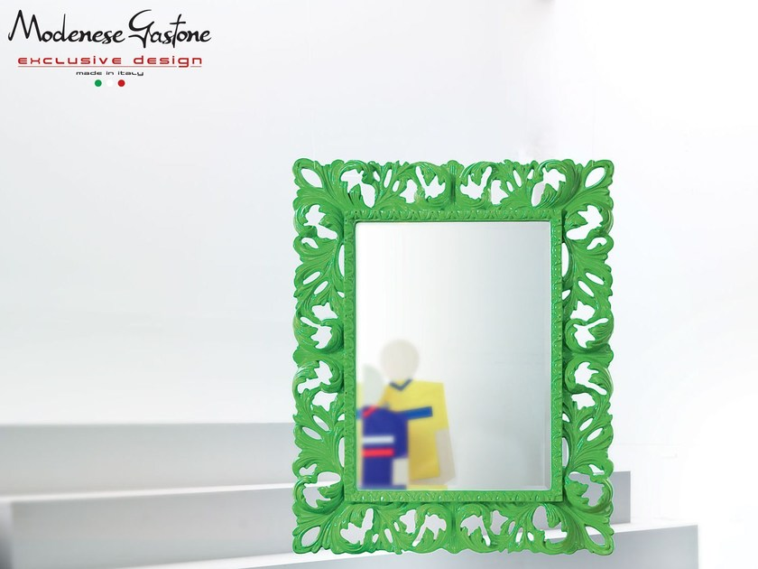 Rectangular wall-mounted framed mirror GOLEADOR   Mirror by Modenese Gastone