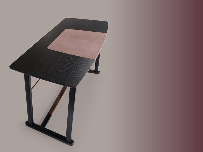Rectangular wooden writing desk GOLIA by Borzalino