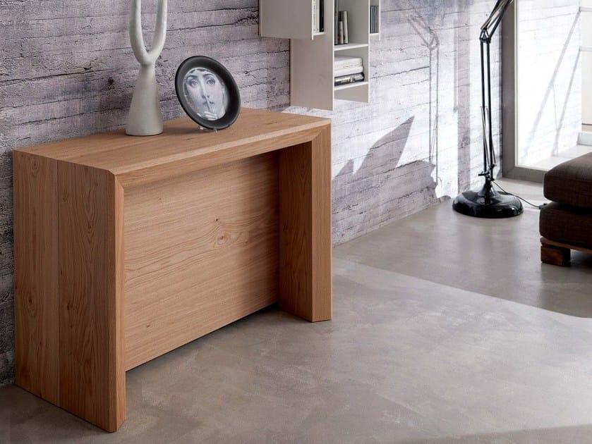 Extending wooden console table GOLIETTA by Ozzio Italia