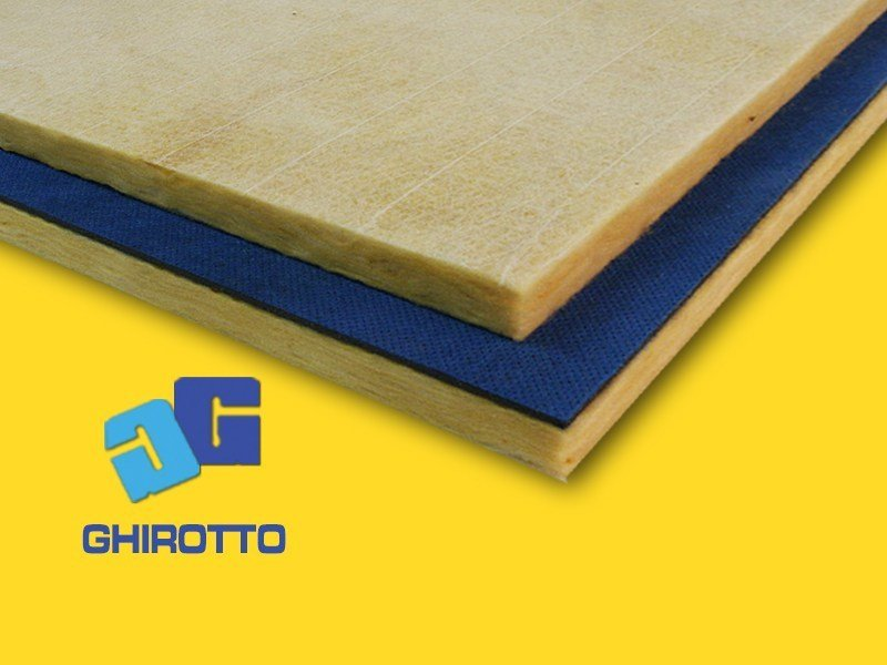 Glass wool sound insulation panel GOMMAPAN VER by GHIROTTO