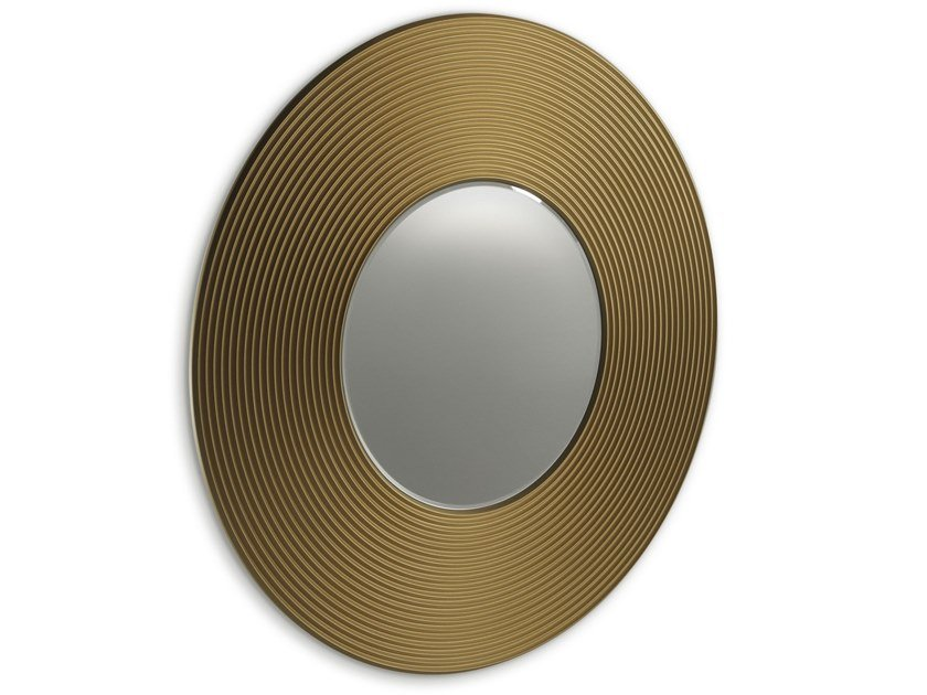 Round wall-mounted MDF mirror GONG A by ALBEDO