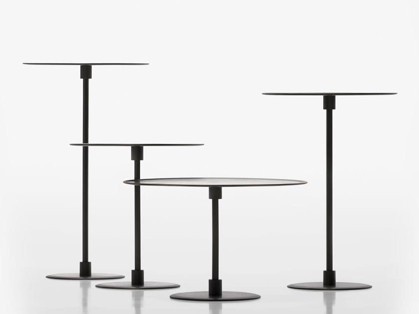 Tavolino rotondo in metallo GONG by ACERBIS