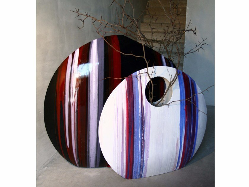 Glass-fibre vase GONG by CEDRIMARTINI