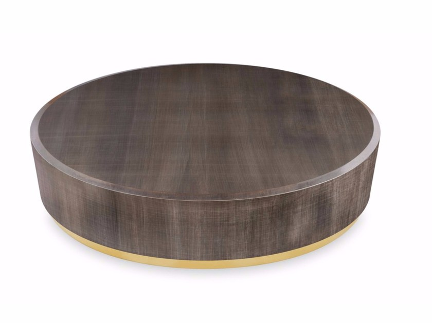Round wooden coffee table GONG by Gallotti&Radice