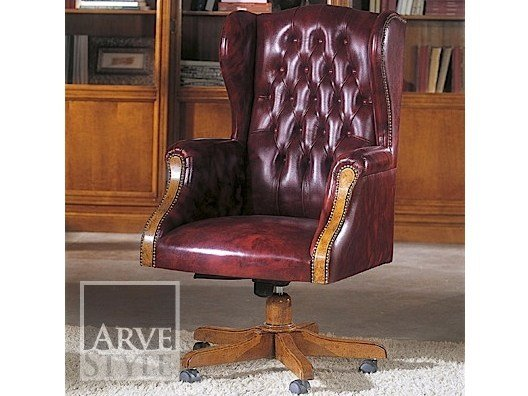 Executive chair with 5-spoke base with armrests GONZAGA | Executive chair by Arvestyle