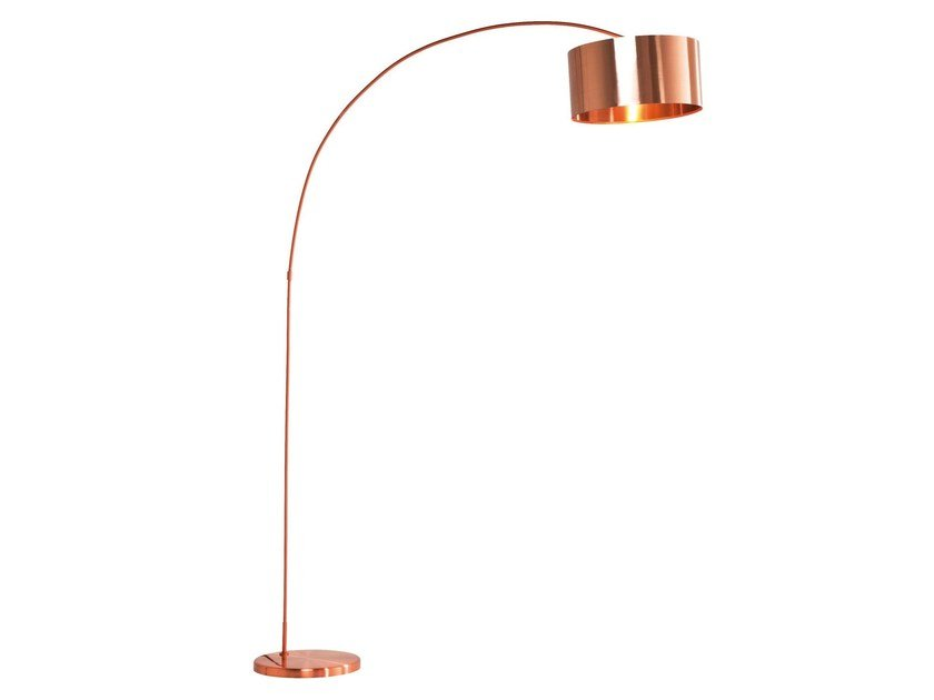 Contemporary style arc lamp GOOSENECK COPPER by KARE-DESIGN