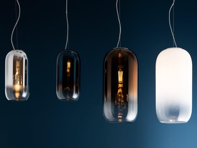 Lampada a sospensione a LED in vetro soffiato GOPLE   Lampada a sospensione by Artemide