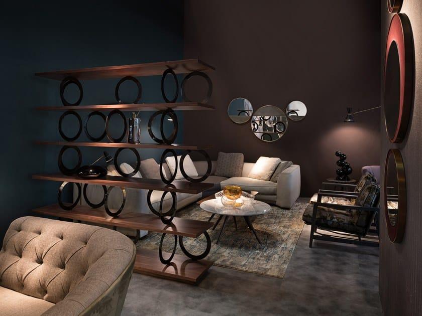 Open modular bookcase GORDON by Borzalino