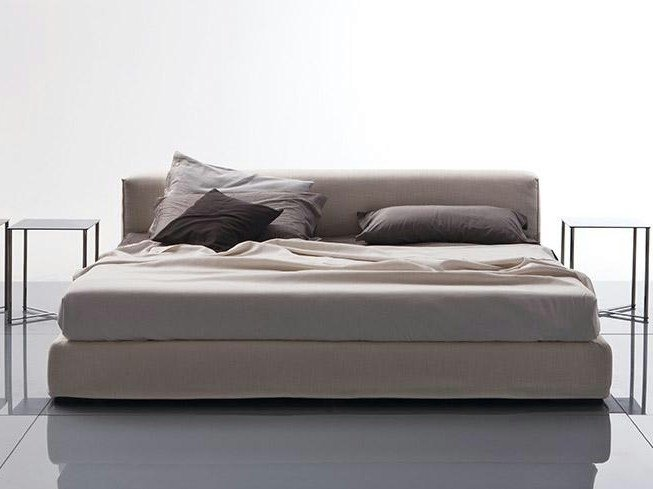 Bed with upholstered headboard GORDON   Bed with upholstered headboard by Marac