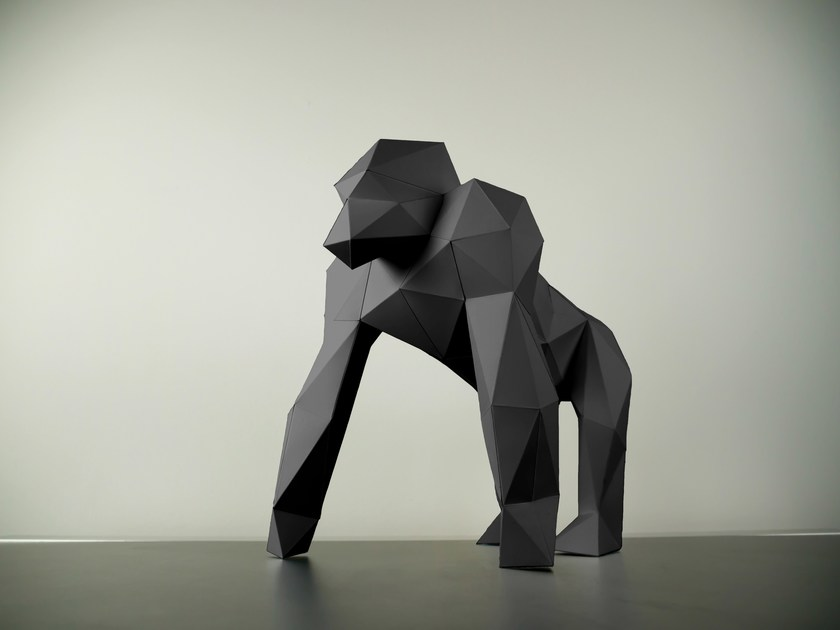 Paper sculpture GORILLA by Papertrophy
