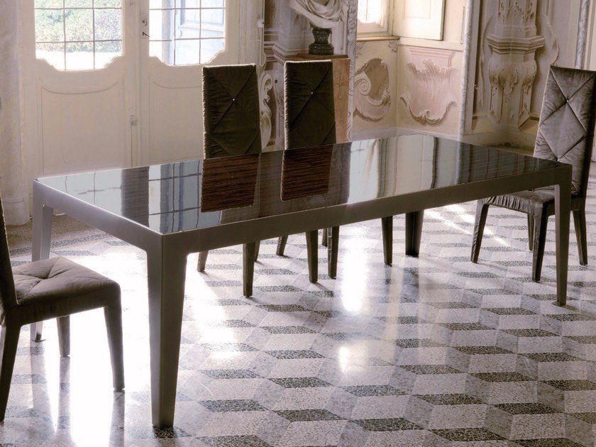 Tavolo da pranzo rettangolare in legno GORKY | Tavolo by Longhi