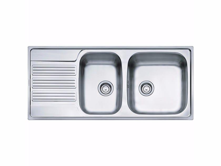 Lavello a una vasca e mezzo da incasso in acciaio inox con sgocciolatoio GOX 621 by FRANKE