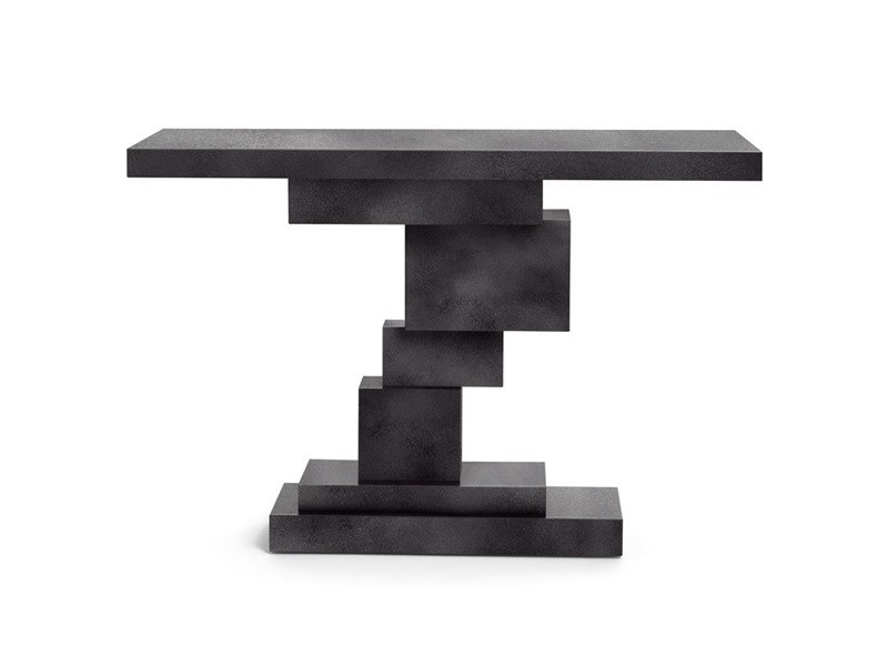 Lacquered rectangular console table with drawers GRAAL by Opinion Ciatti
