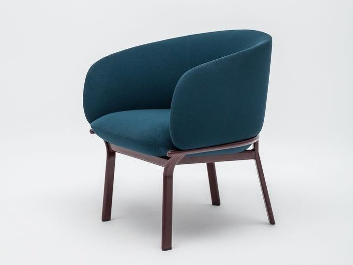 Fabric armchair with armrests GRACE | Armchair by MDD