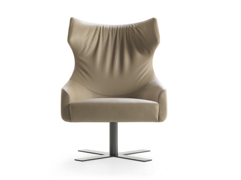 Bergere swivel armchair with armrests GRACE by Busnelli