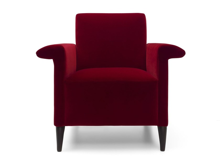 Armchair with removable cover with armrests GRACE by Bodema