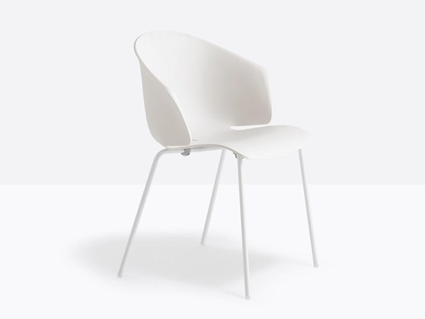 silla pedrali grace 411 blanca pata negra