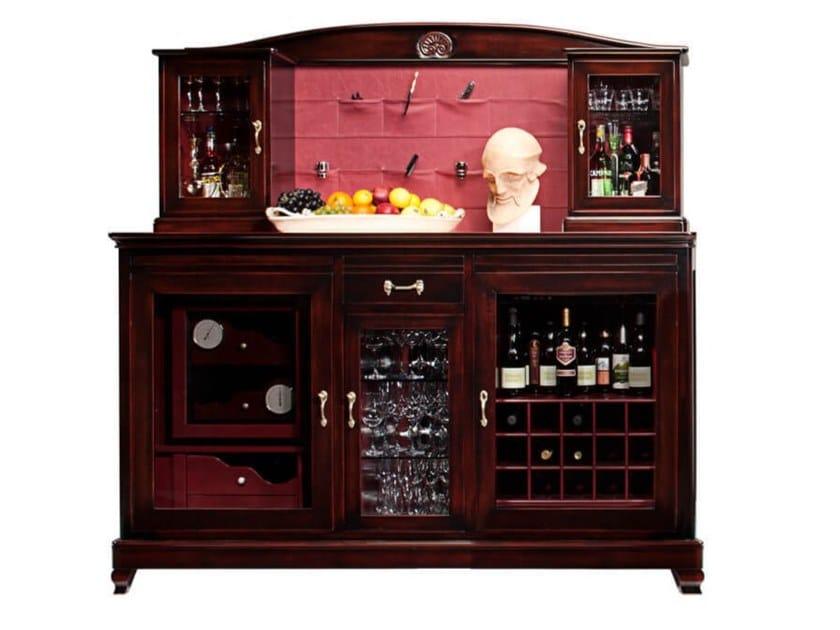 Cantinetta frigo in ciliegio con anta in vetro per 50-100 bottiglie ELODIE by Faber Mobili