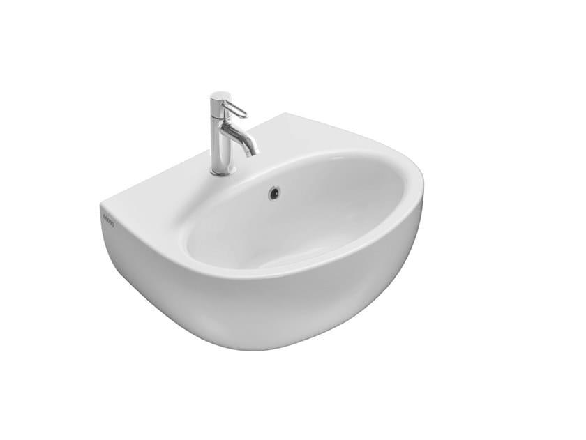 Lavabo ovale singolo in ceramica GRACE | Lavabo sospeso by Ceramica Globo