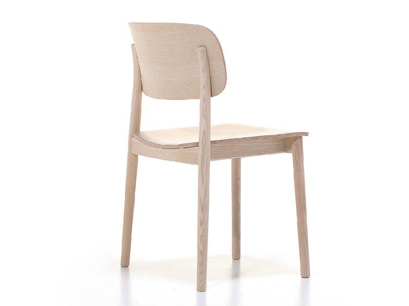 Stackable ash chair GRADO | Chair by Cizeta L'Abbate