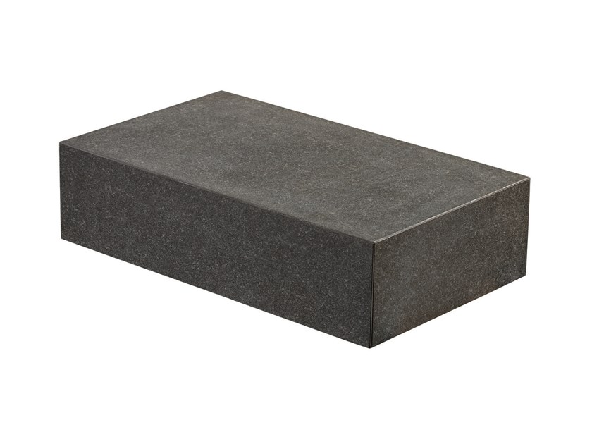 Sintered stone step COLOSSEO BASALT GRAU BLOCKSTEP by L'ALTRA PIETRA