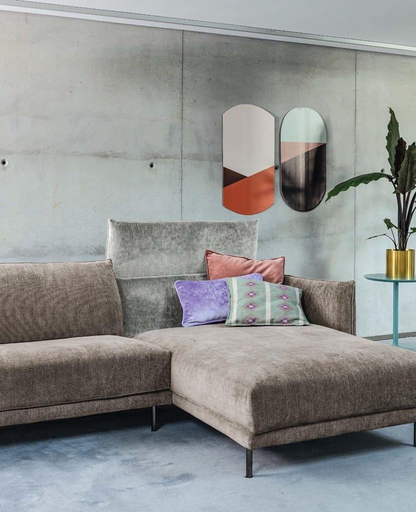 In Longue GraffitiDivano Twils Lounge Con Chaise A Tessuto 3 Posti mNn80w