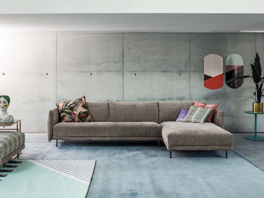 3 seater fabric sofa with chaise longue GRAFFITI | Sofa with chaise longue by Twils Lounge