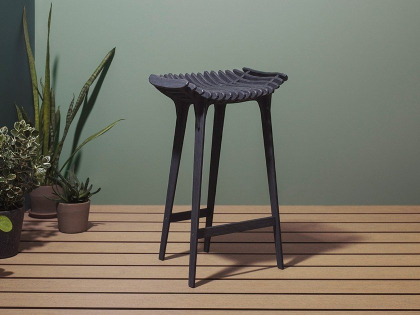 High HPL garden stool GRAFITE | High stool by IBRIDE