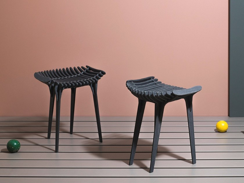 HPL garden stool GRAFITE | Stool by IBRIDE