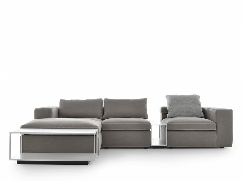 Sectional 3 seater fabric sofa with chaise longue GRAFO | Sofa with chaise longue by MDF Italia
