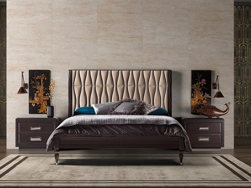 Bed with upholstered headboard GRAN DUCA | Bed by Prestige
